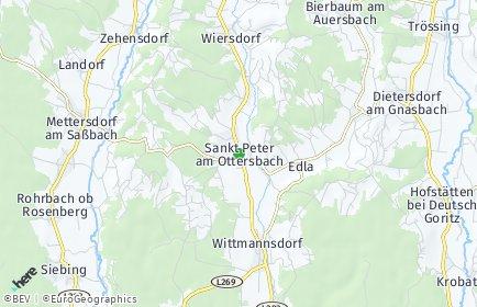 Stadtplan Sankt Peter am Ottersbach