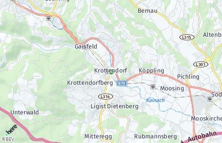Stadtplan Krottendorf-Gaisfeld