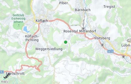 Stadtplan Rosental an der Kainach