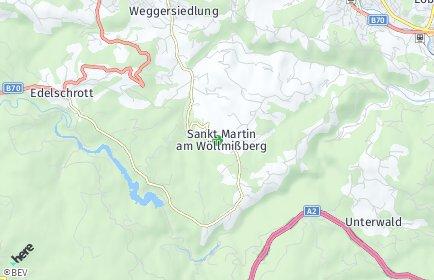 Stadtplan Sankt Martin am Wöllmißberg