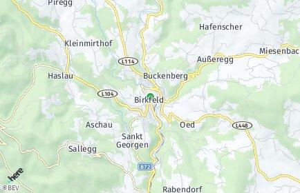 Stadtplan Birkfeld
