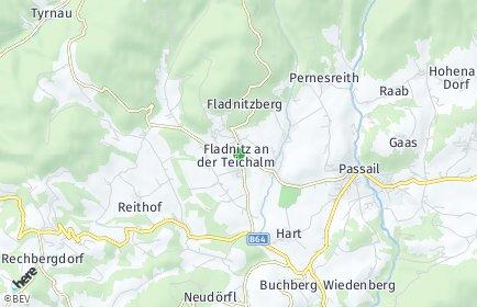 Stadtplan Fladnitz an der Teichalm