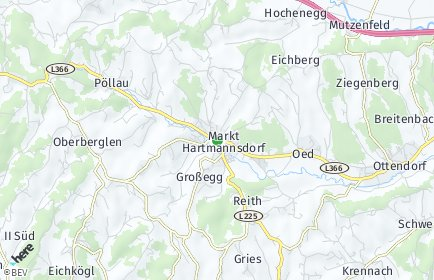 Stadtplan Markt Hartmannsdorf