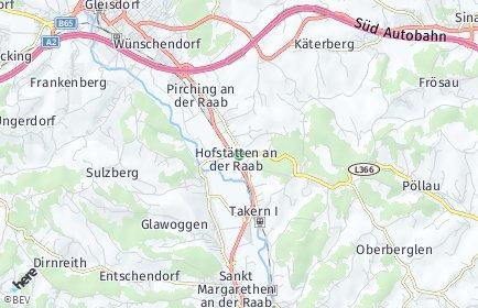 Stadtplan Hofstätten an der Raab