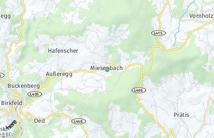 Stadtplan Miesenbach bei Birkfeld