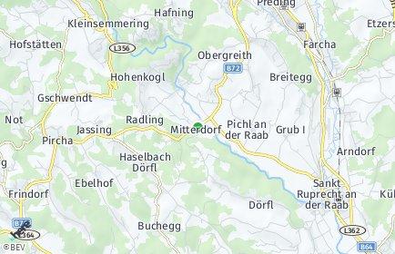 Stadtplan Mitterdorf an der Raab