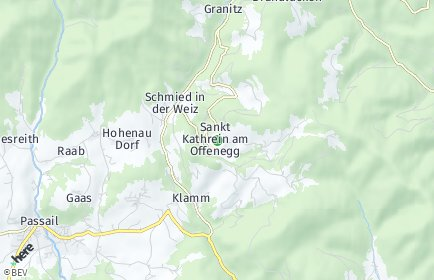 Stadtplan Sankt Kathrein am Offenegg