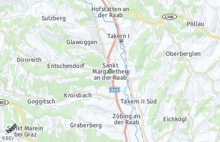 Stadtplan Sankt Margarethen an der Raab