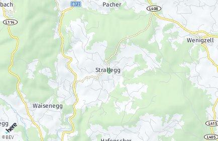 Stadtplan Strallegg