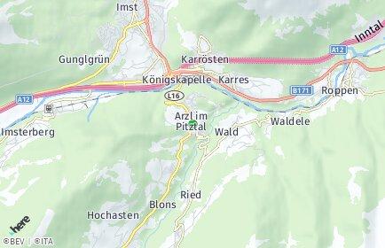 Stadtplan Arzl im Pitztal
