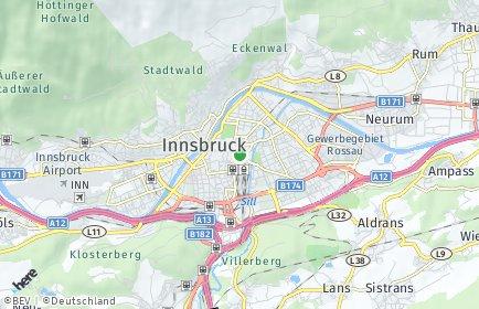 Stadtplan Innsbruck-Land