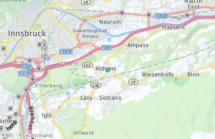Stadtplan Aldrans