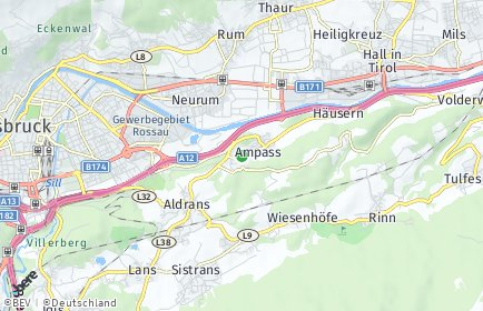 Stadtplan Ampass