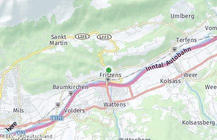 Stadtplan Fritzens
