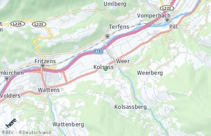 Stadtplan Kolsass