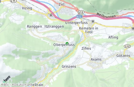 Stadtplan Oberperfuss