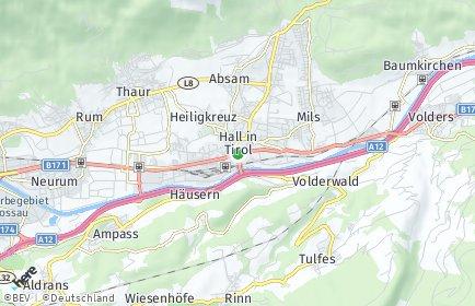 Stadtplan Hall in Tirol OT Heiligkreuz
