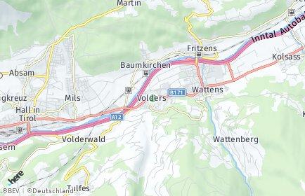Stadtplan Volders