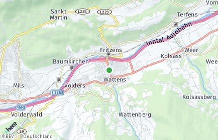 Stadtplan Wattens