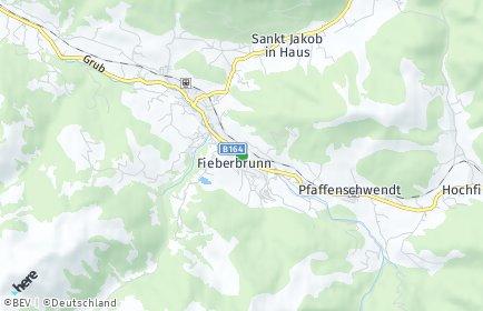 Stadtplan Fieberbrunn