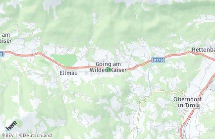 Stadtplan Going am Wilden Kaiser