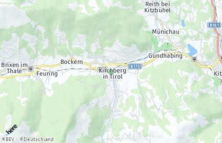 Stadtplan Kirchberg in Tirol