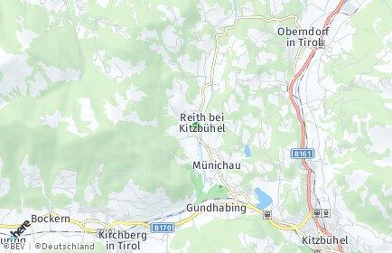 Stadtplan Reith bei Kitzbühel