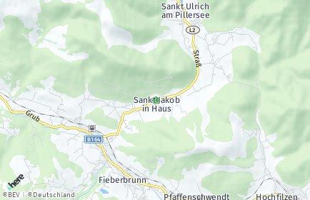 Stadtplan Sankt Jakob in Haus