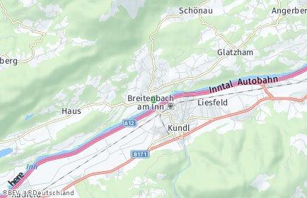 Stadtplan Breitenbach am Inn