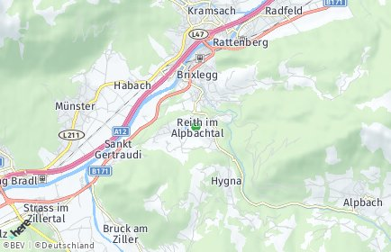Stadtplan Reith im Alpbachtal