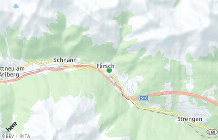 Stadtplan Flirsch