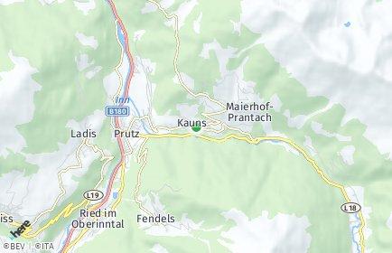 Stadtplan Kauns