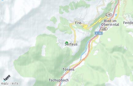 Stadtplan Serfaus