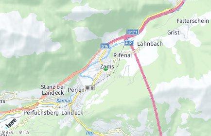 Stadtplan Zams