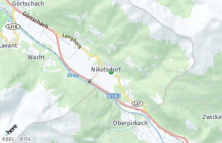 Stadtplan Nikolsdorf