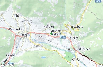 Stadtplan Nußdorf-Debant OT Debanttal