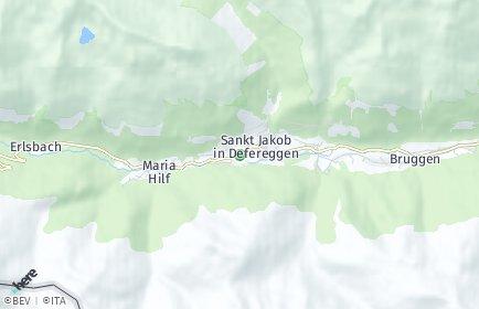 Stadtplan Sankt Jakob in Defereggen