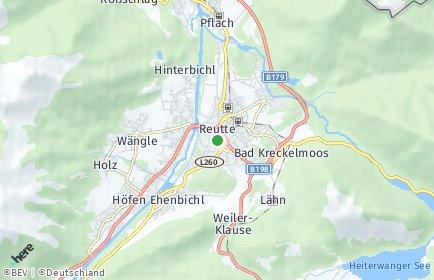 Stadtplan Reutte