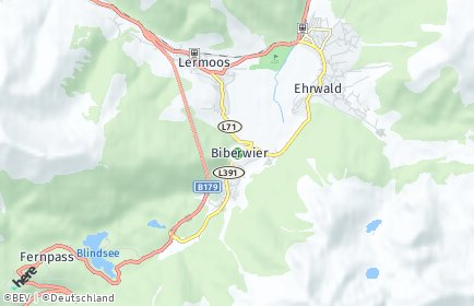 Stadtplan Biberwier