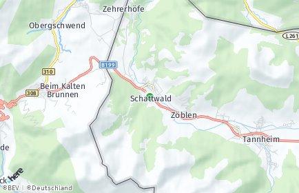 Stadtplan Schattwald
