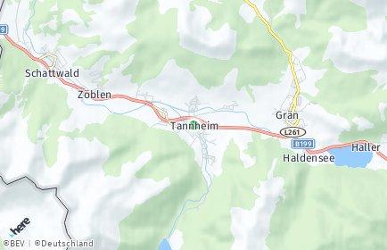Stadtplan Tannheim