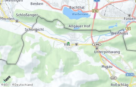 Stadtplan Vils