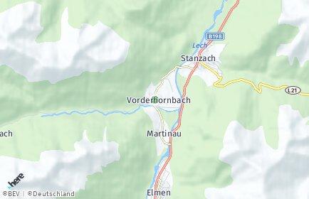 Stadtplan Vorderhornbach