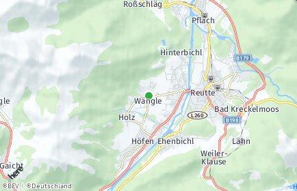 Stadtplan Wängle