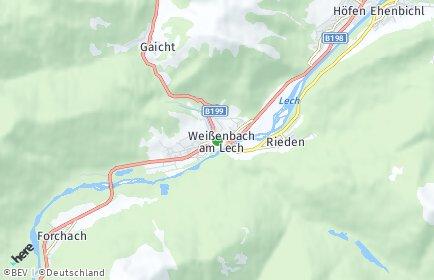 Stadtplan Weißenbach am Lech