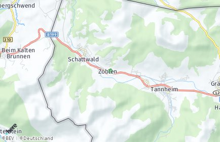 Stadtplan Zöblen