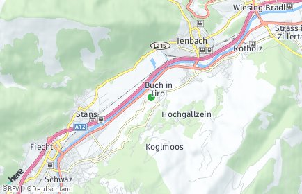 Stadtplan Buch bei Jenbach