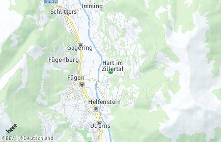 Stadtplan Hart im Zillertal