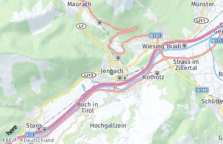 Stadtplan Jenbach