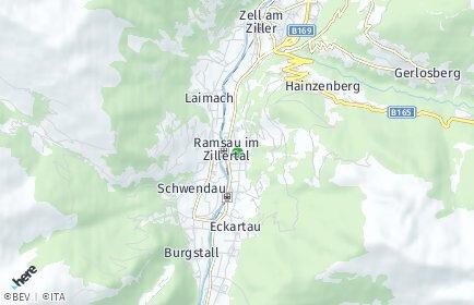 Stadtplan Ramsau im Zillertal
